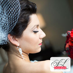 EyeLash Extensions bridal photo