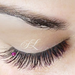 EyeLash Extensions decorated photo