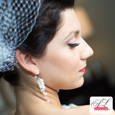 Lash Extensions bridal photo